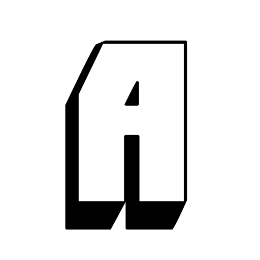 3d black color capital a letter alphabet png with transparent background