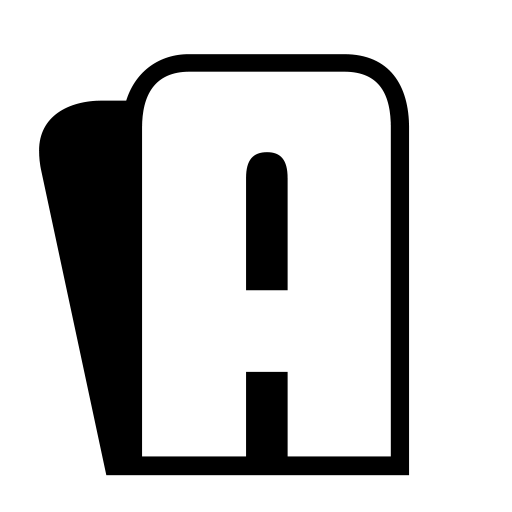 black color 3d capital a letter alphabet png with transparent background